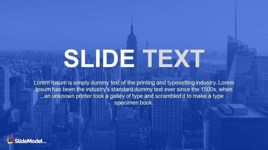 Background Unique Slide to End Presentation