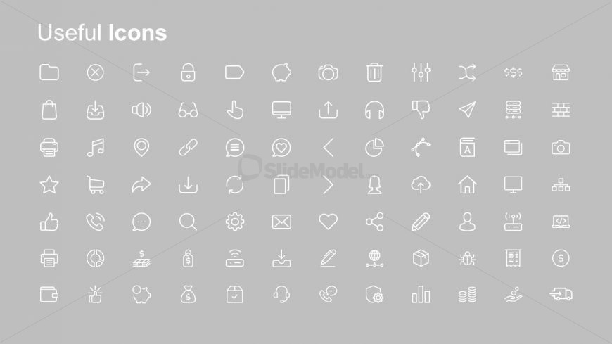infographic icons ppt white