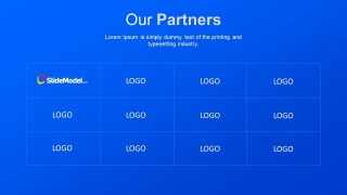 Brand Logo Slide to Present Partners
