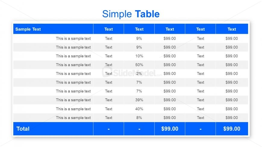 Useful Chart Template Slide of PowerPoint