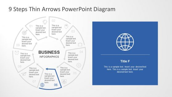 Circular Flow Chart Process Diagram PPT