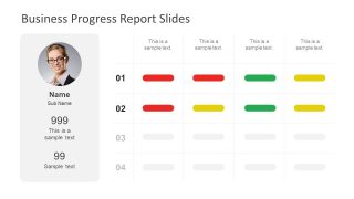 Slide of Progress Reporting for Business