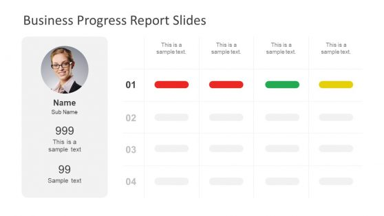 Creative Progress Report PowerPoint Template