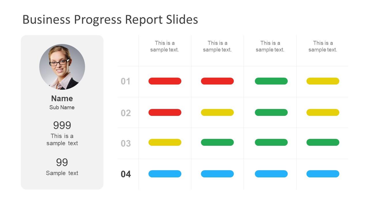 how to make progress report
