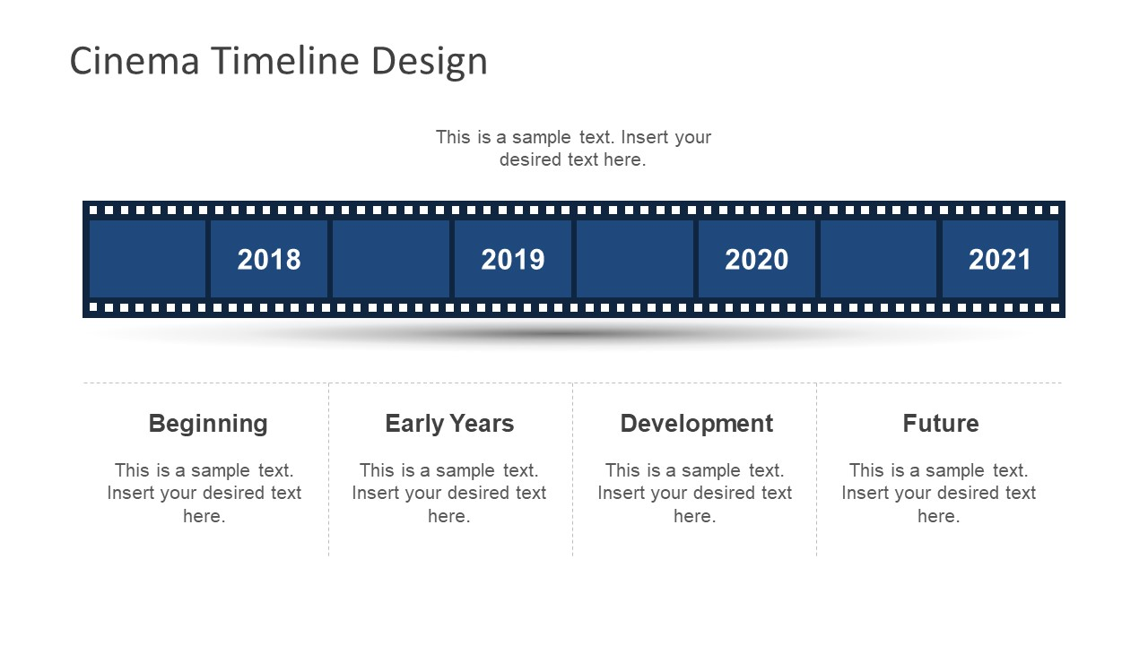 Four Years Timeline and Planning Slide