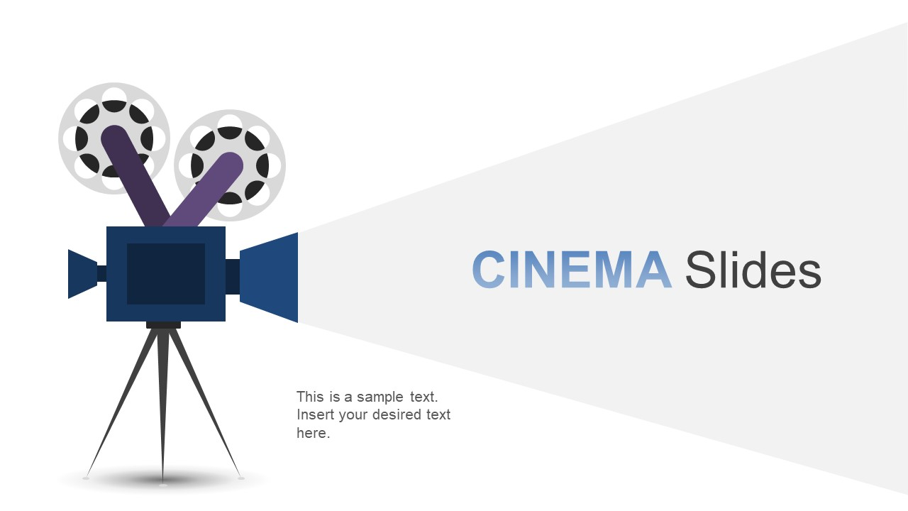 Cinema timeline template for powerpoint slidemodel cinema film and movie presentations maxwellsz