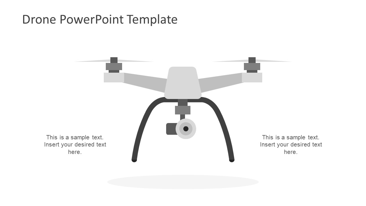 Drone powerpoint template slidemodel drone powerpoint template gray camera drone clipart toneelgroepblik Choice Image