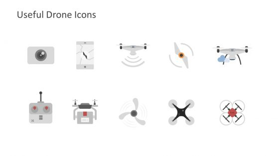 Clipart Design of Drone Template