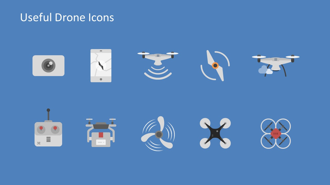 Drone Powerpoint Template Slidemodel