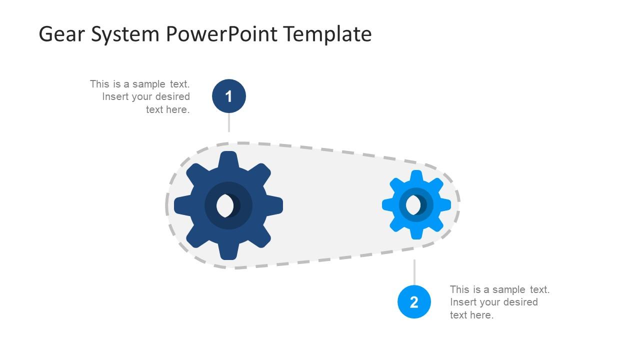 gear system powerpoint template slidemodel