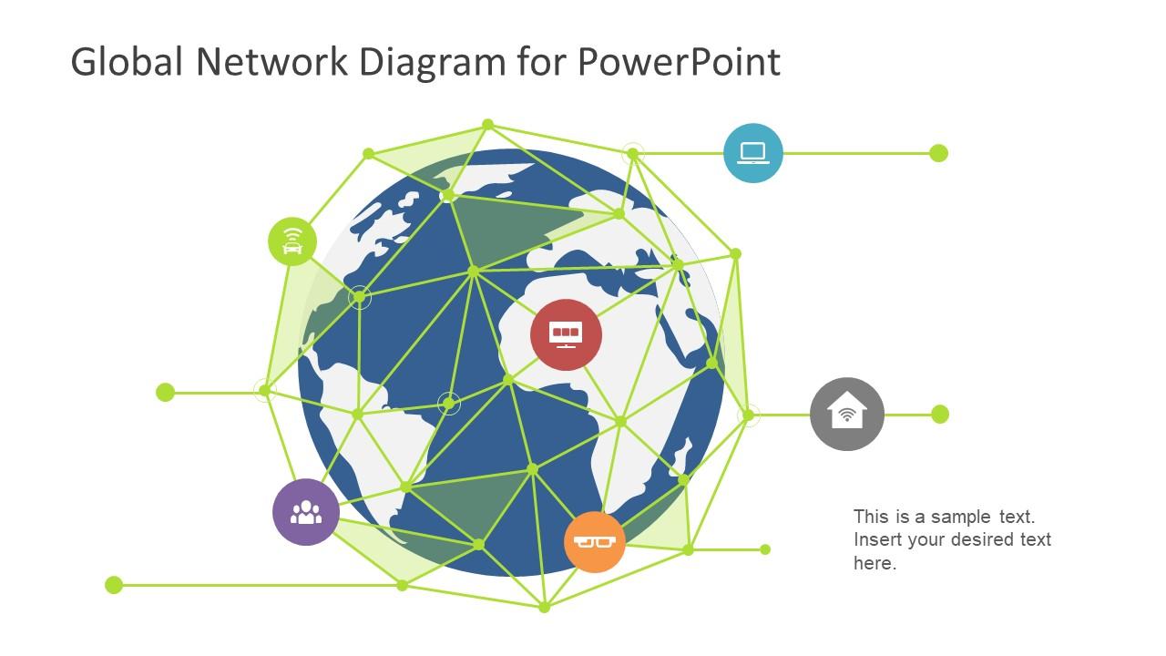 Global Network Diagram for PowerPoint - SlideModel