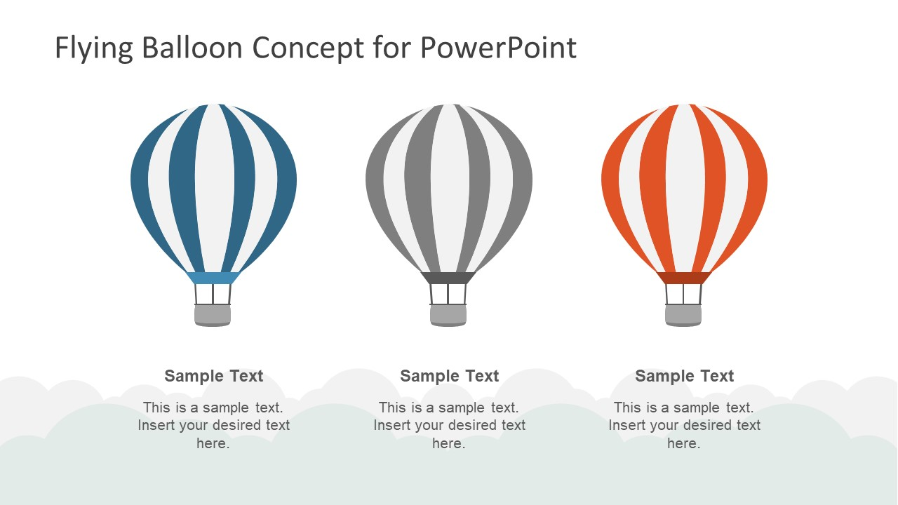 Creative 3 Step PowerPoint of Balloon