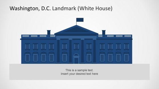 White House Silhouette Template