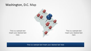 Location Pins PowerPoint Washington DC