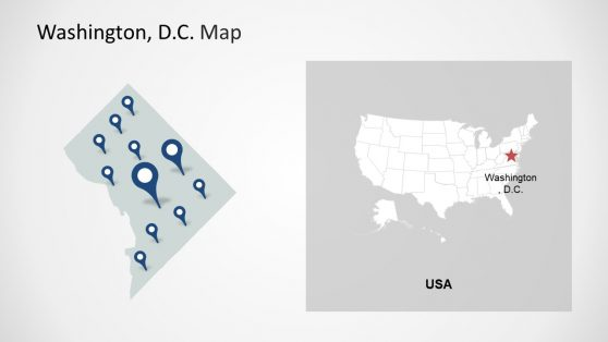 PowerPoint Map of Washington DC