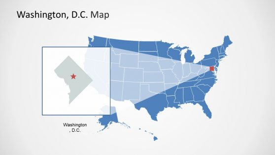 USA Map Washington DC Map PPT