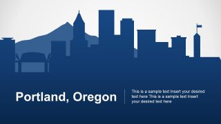 Portland Oregon PowerPoint Map