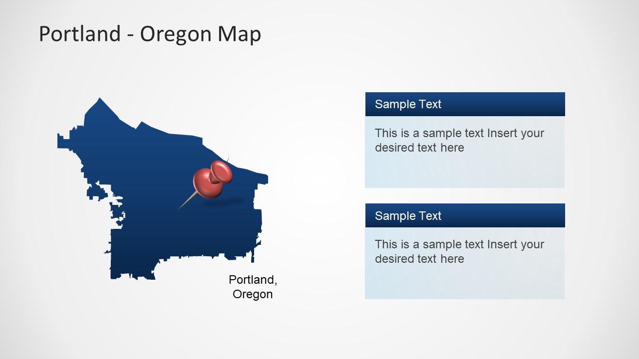 Portland Oregon PowerPoint Map - SlideModel