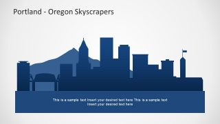 Cityscape PPT Template Portland Bridge Town