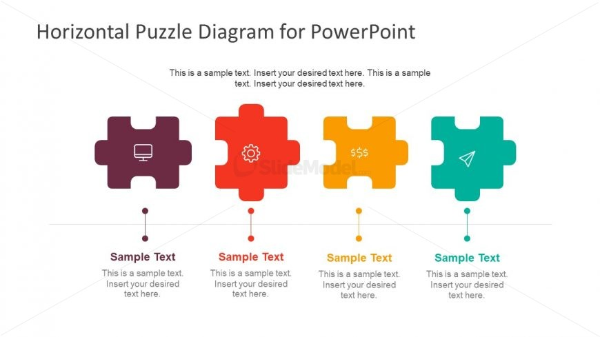 Flat Design PowerPoint Diagram Puzzle