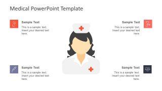 Graphics of Nurse and 4 Segment Infographics