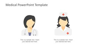 PowerPoint Shapes of Doctor and Nurse