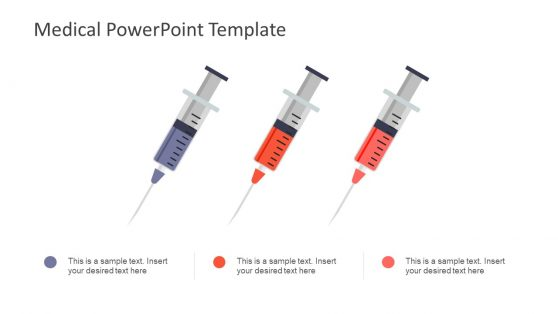 Slide of Three Syringes and Placeholders