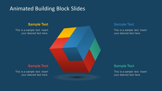 3D Cube Template Block Animation