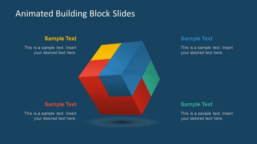 3d cube template block animation slidemodel