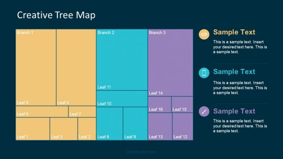 PowerPoint Tree Diagram Flat Page Style