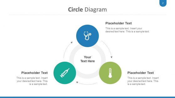 Circular medical Diagram PowerPoint
