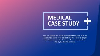 Medical Case Study PowerPoint Template