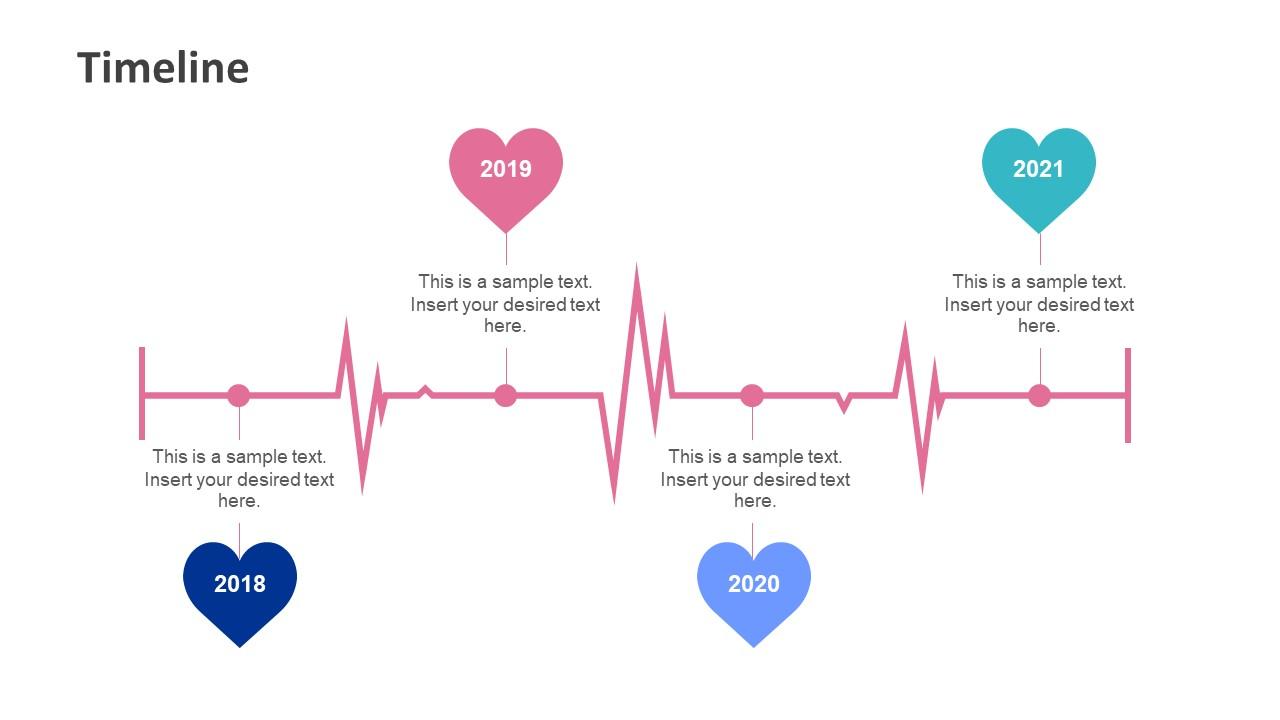 Slide of Horizontal Timeline for Medical