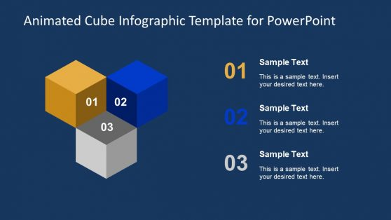 3D Cube Infographic PowerPoint Animated