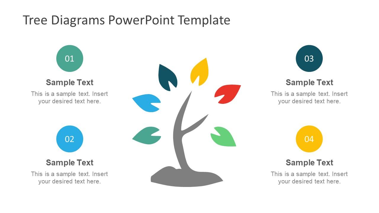 Tree Shape Flat Diagram Design