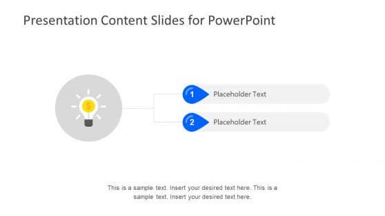 Idea Slide for Table of Content