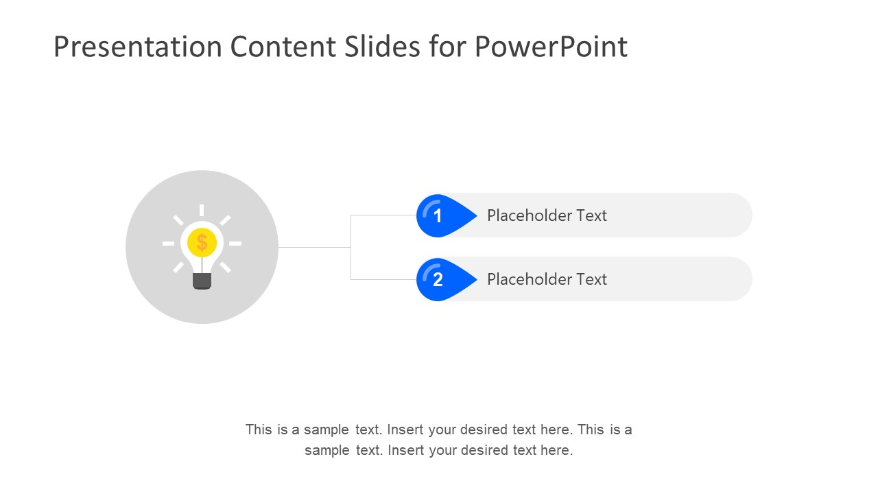 Lighbulb Graphic Template and Placeholders