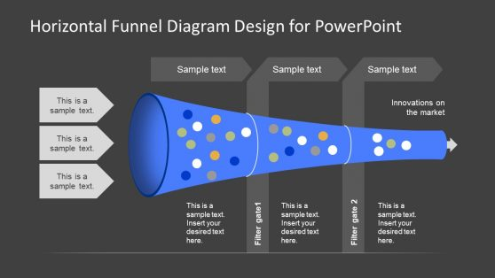 Horizontal Funnel Diagram Template