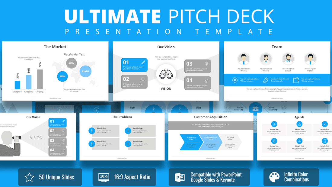 7757 01 ultimate pitch deck powerpoint template slidemodel. Black Bedroom Furniture Sets. Home Design Ideas