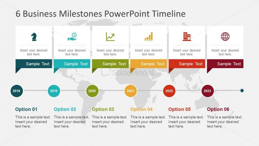 6 Milestones Slide Template