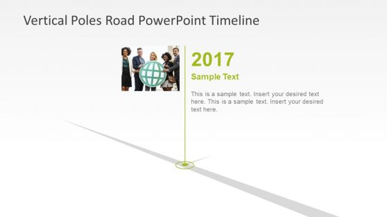 Vertical Timeline PowerPoint Segments