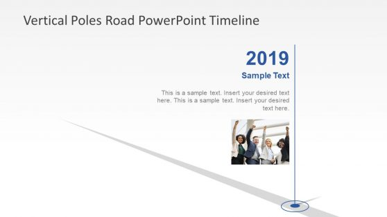 Vertical Timeline Poles PowerPoint