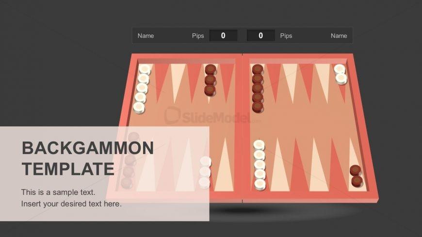 Backgammon Board Game Template