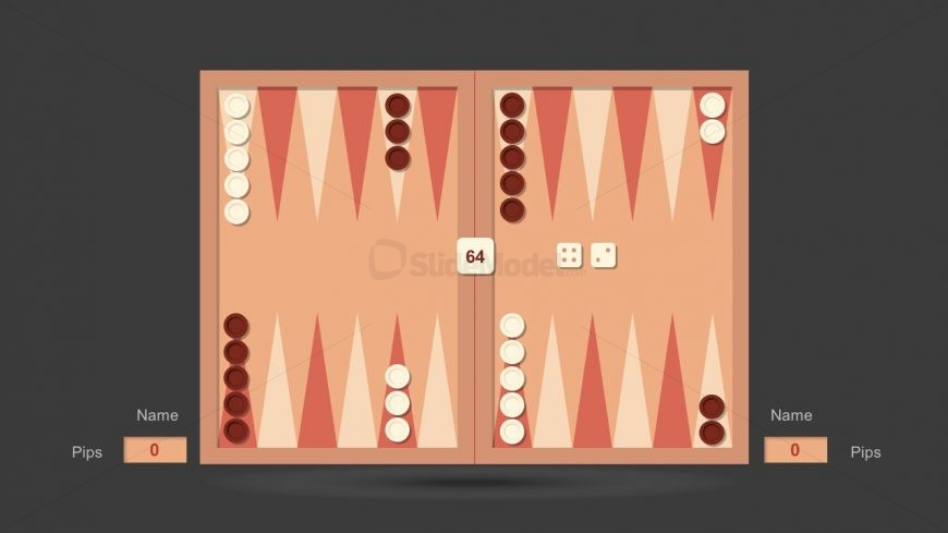Usable Backgammon Dice Game Board PowerPoint