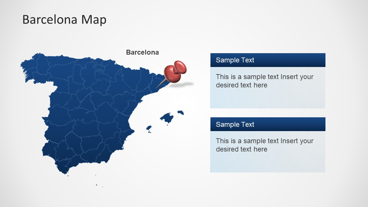 Slide of Outline Map Spain