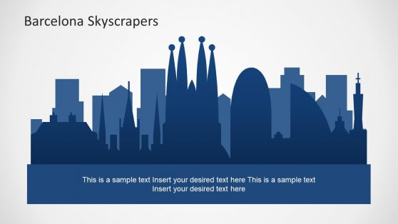 Template of Barcelona City Scape
