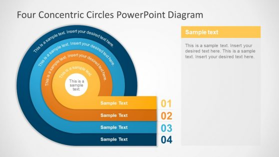 PowerPoint Diagram of Concentric Circles