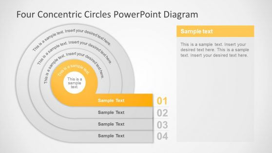 Template of Core Nested Circles
