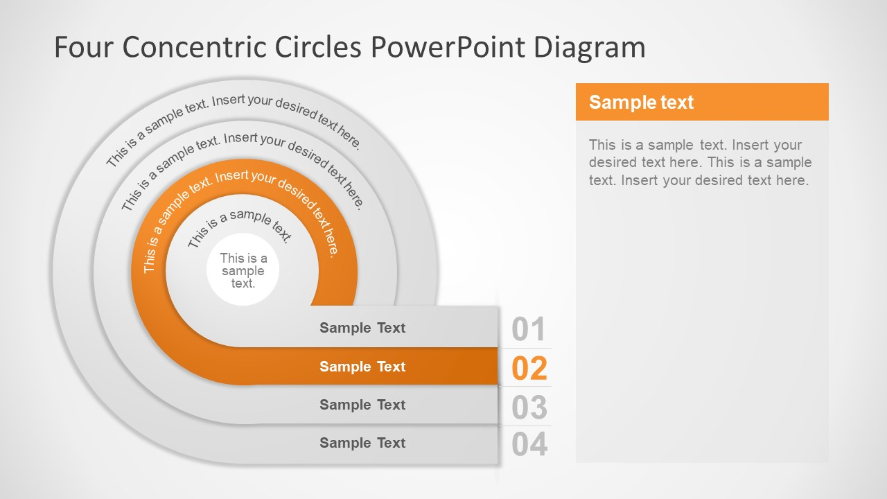 Vector PPT 4 Step Diagram