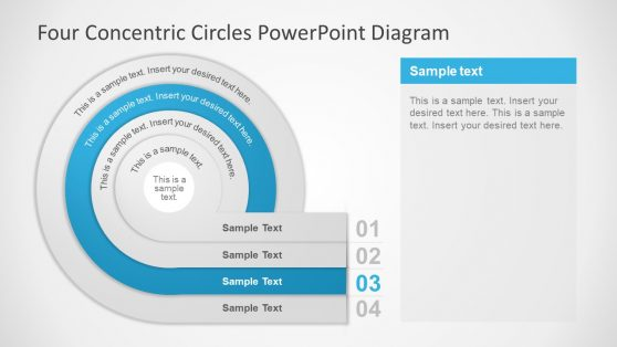 4 Step PowerPoint Diagram Circular